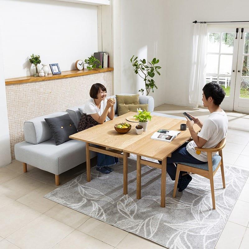 LDテーブル ムーフLDT135 OAK:広々テーブルスタイル