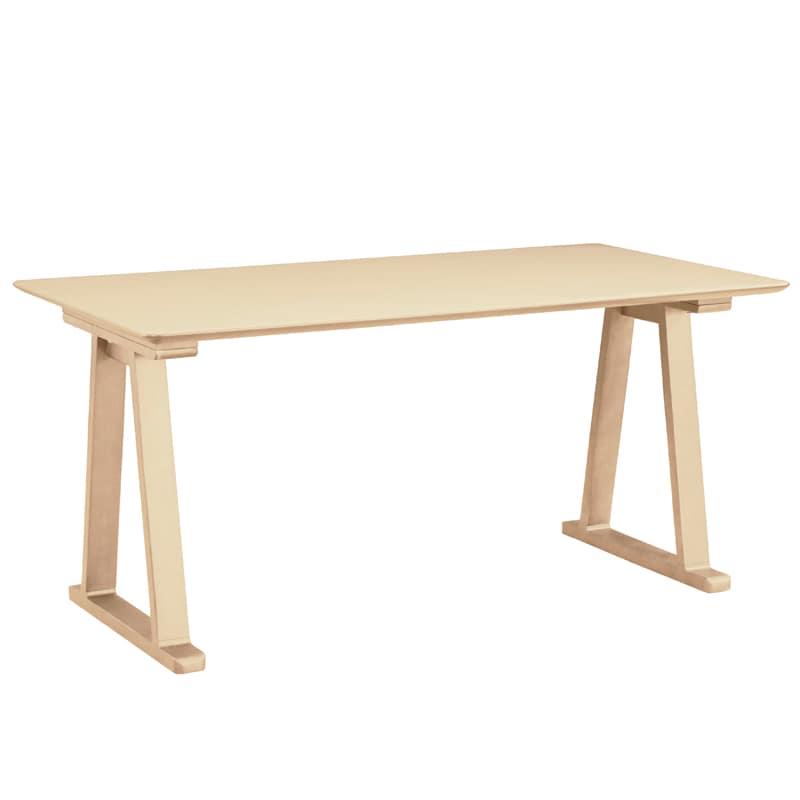 ダイニングテーブル ラヴィータ 150×80テーブル 2本脚スペーサー付き WH:ダイニングテーブル