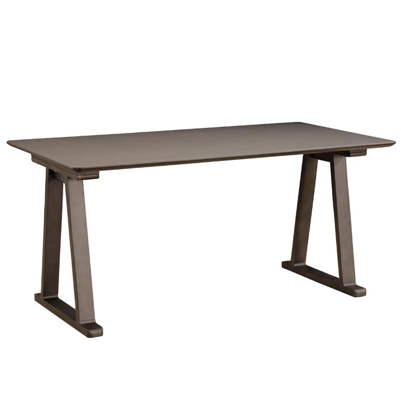 ダイニングテーブル ラヴィータ 150×80テーブル 2本脚スペーサー付き BK:ダイニングテーブル