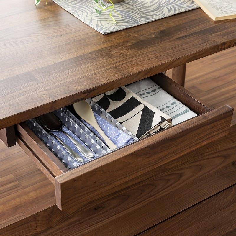 ダイニング5点セット グリン・リーベ(テーブル:150テーブル/板座チェア×2/120ベンチ/オプション引出)WN:テーブル下に引出しつき(別売り)