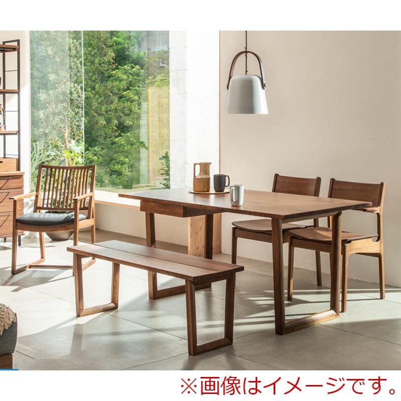 ダイニング5点セット グリン・リーベ(テーブル:150テーブル/板座チェア×2/120ベンチ/オプション引出)WN