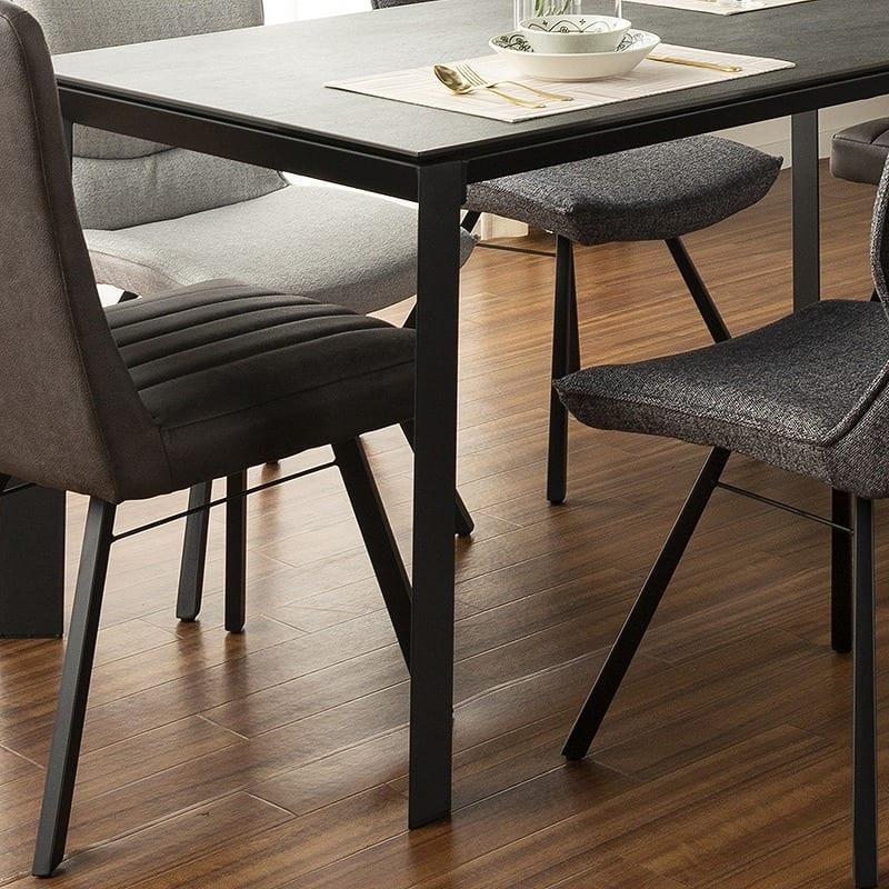 ダイニングテーブル グラナダ 150×80テーブル ストームグレイ:脚部はスチールフ素材