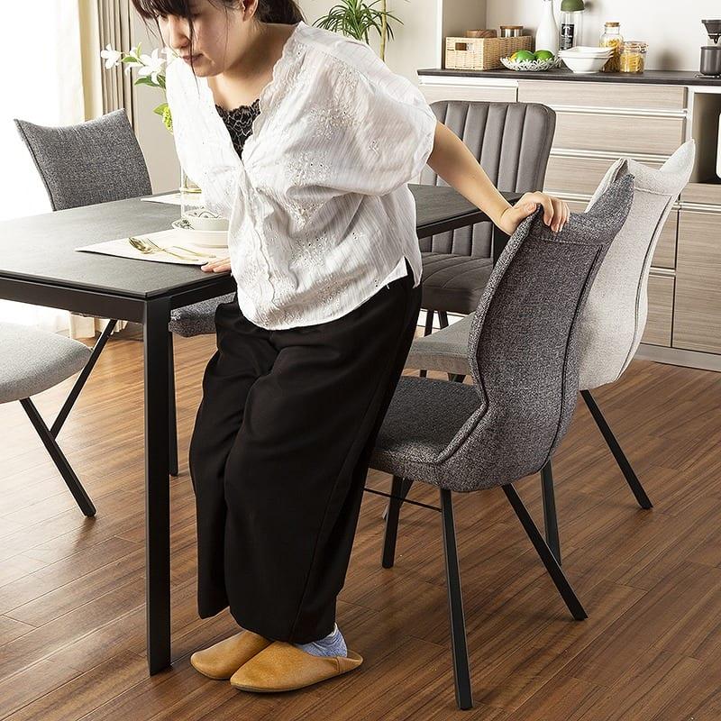 ダイニングテーブル グラナダ 150×80テーブル ストームグレイ:デザインスッキリ2本脚