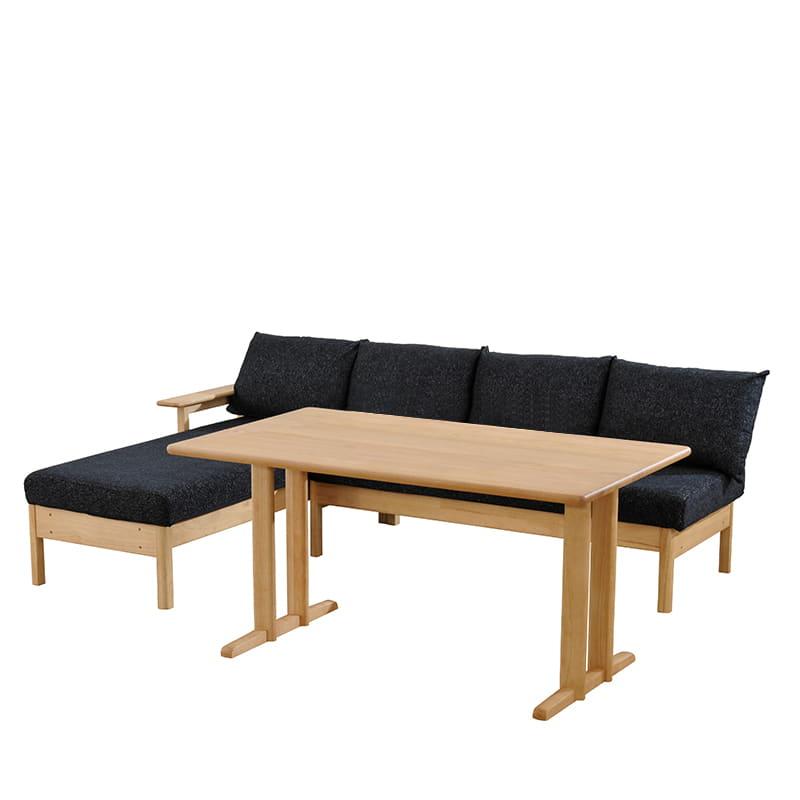 LD6点セット W/Oセレクト(LDテーブル/LDベンチクッション2個付×2/バックレストS/バックレストL/オプション肘)NR・TMNV