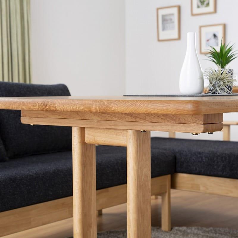 LD6点セット W/Oセレクト(LDテーブル/LDベンチクッション2個付×2/バックレストS/バックレストL/オプション肘)NR・TMNV:テーブルの高さ調節可能