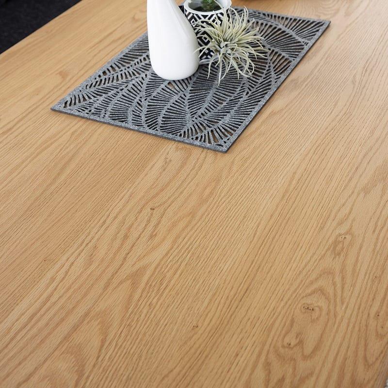 LDテーブル W/Oセレクト(スペーサー付き) 天板NR・脚NR:おしゃれな木天板