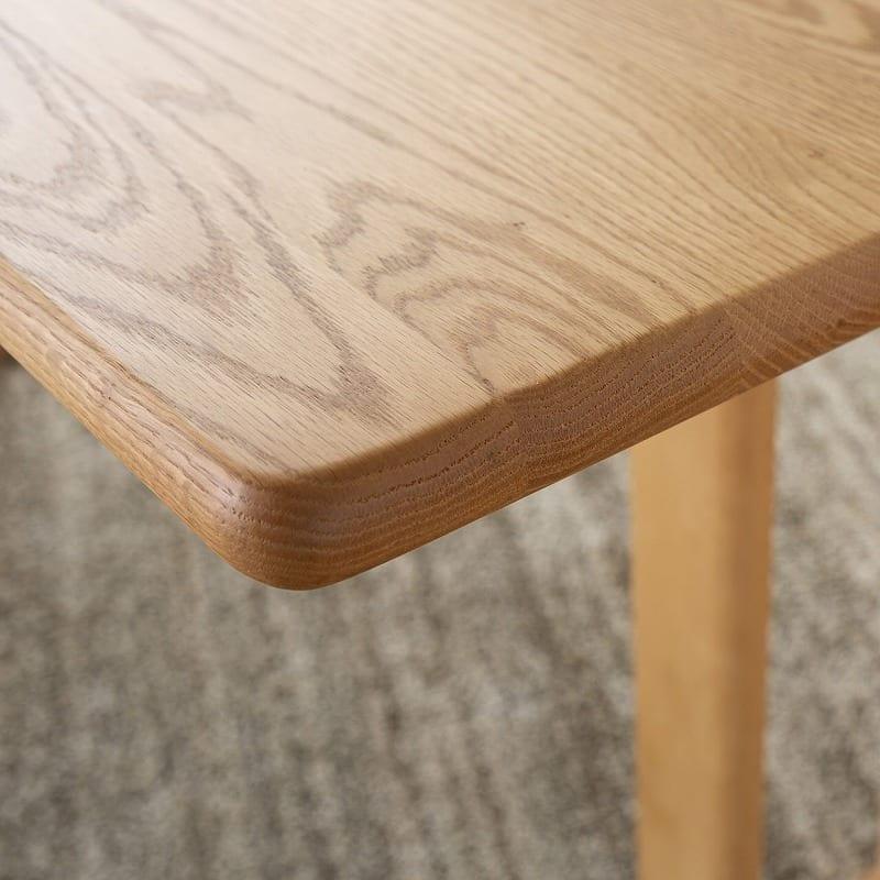 LDテーブル W/Oセレクト(スペーサー付き) 天板NR・脚NR:無垢材仕様だから、重厚感があって頑丈