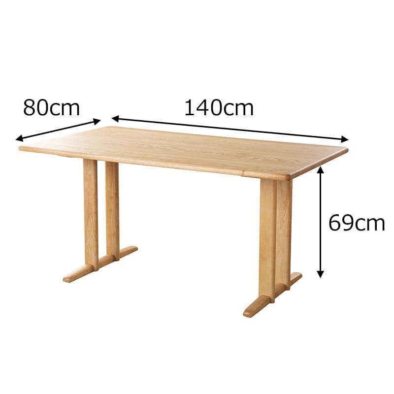LDテーブル W/Oセレクト(スペーサー付き) 天板WAL・脚WAL