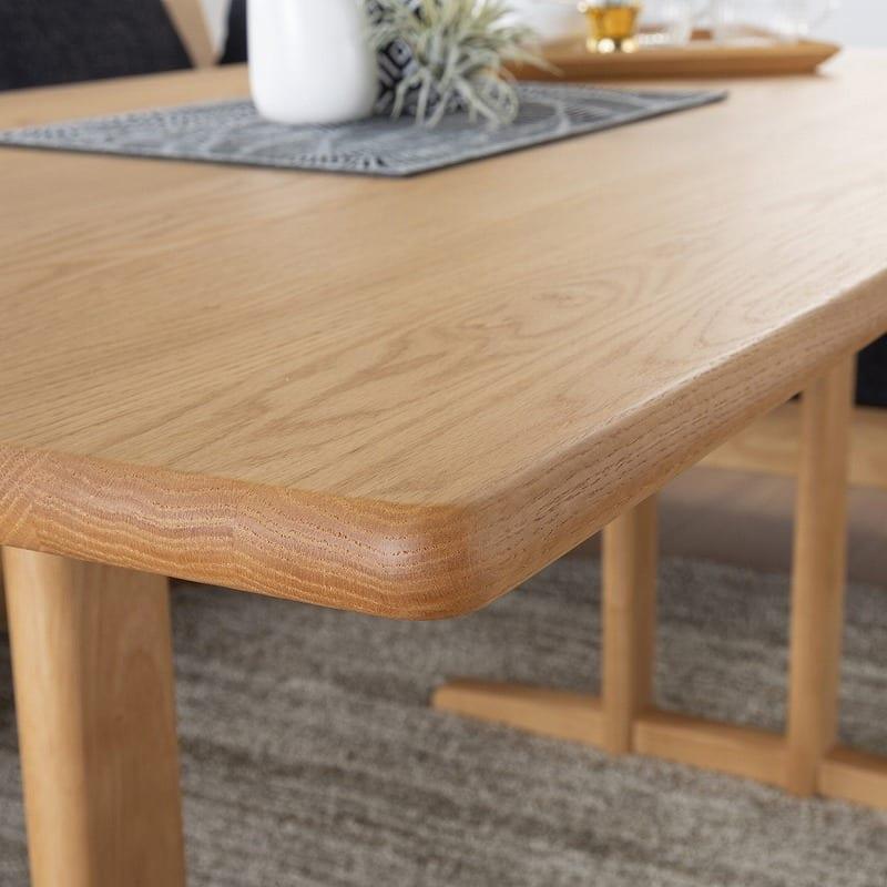 LDテーブル W/Oセレクト(スペーサー付き) 天板NR・脚WAL:テーブル角が丸くて安全