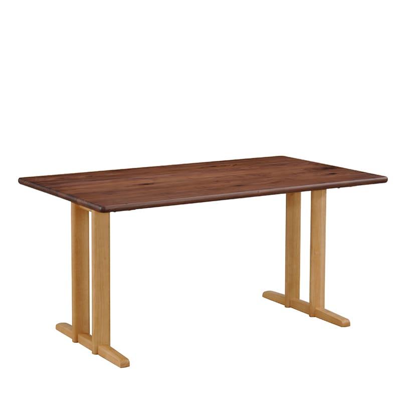 LDテーブル W/Oセレクト(スペーサー付き) 天板WAL・脚NR:好きなデザインがきっと見つかる!W/Oセレクトシリーズ