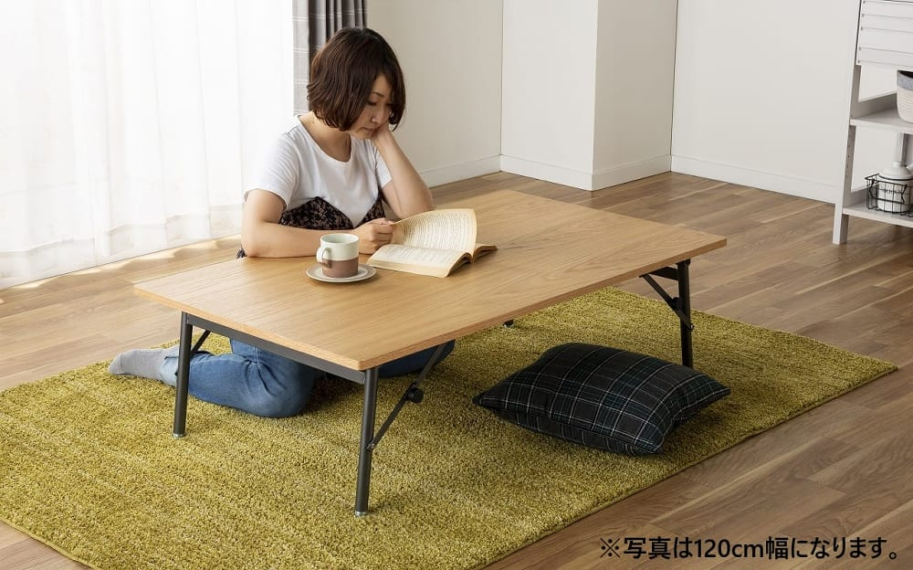 ダイニングテーブル トイ フォールディングテーブル150 WN:リビングテーブルとしても!
