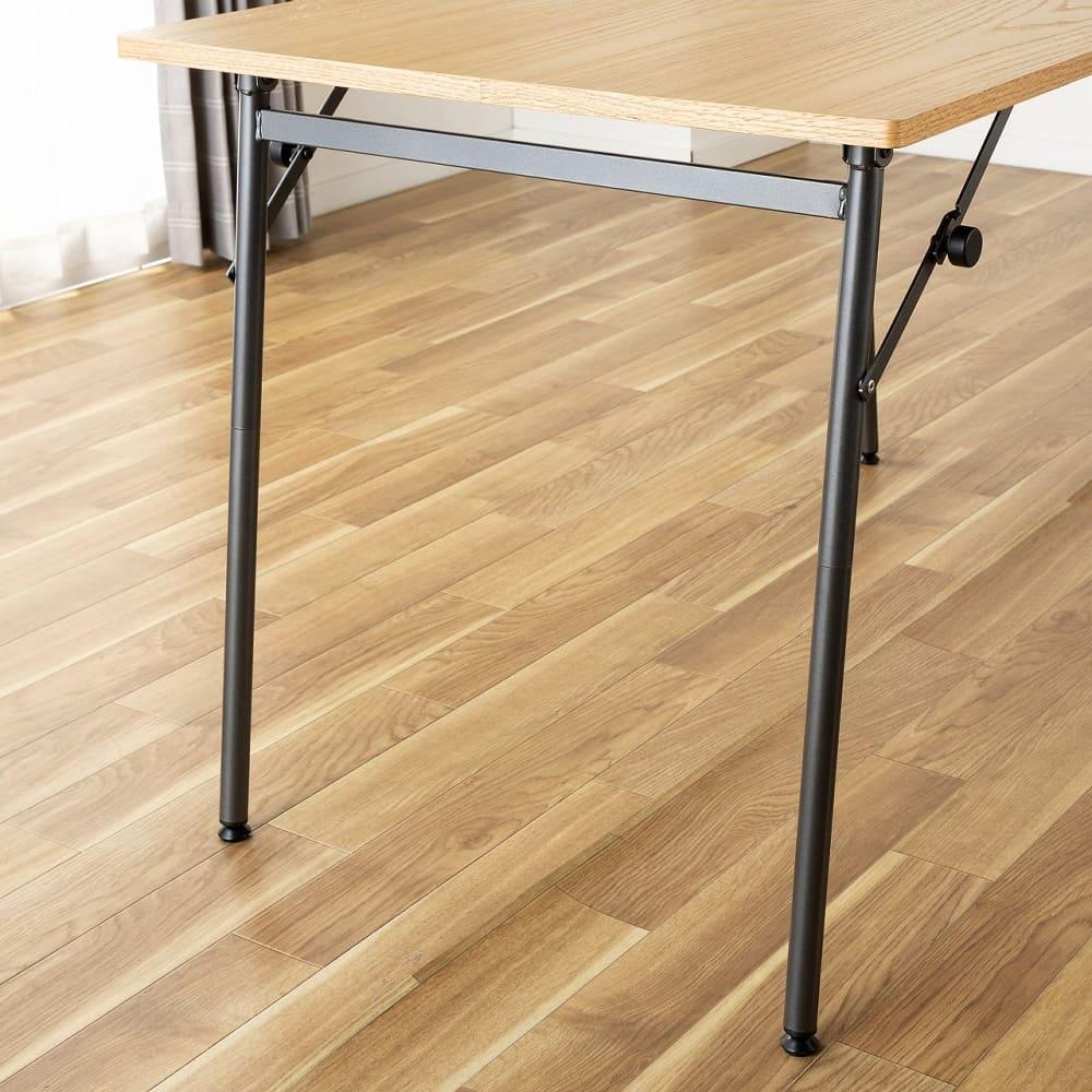 ダイニングテーブル トイ フォールディングテーブル150 WN:安っぽく感じない素材感