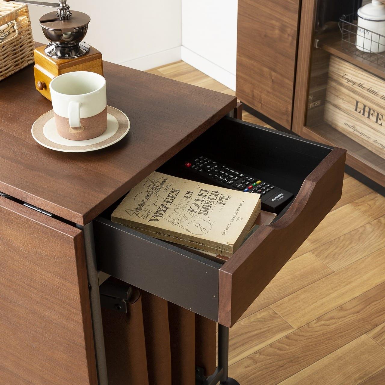 バタフライテーブル レイズ OAK:両側から引き出せる
