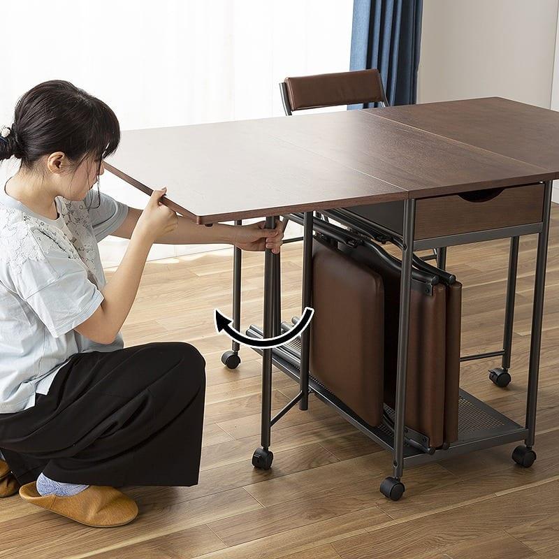 バタフライテーブル レイズ WN:簡単に伸長!