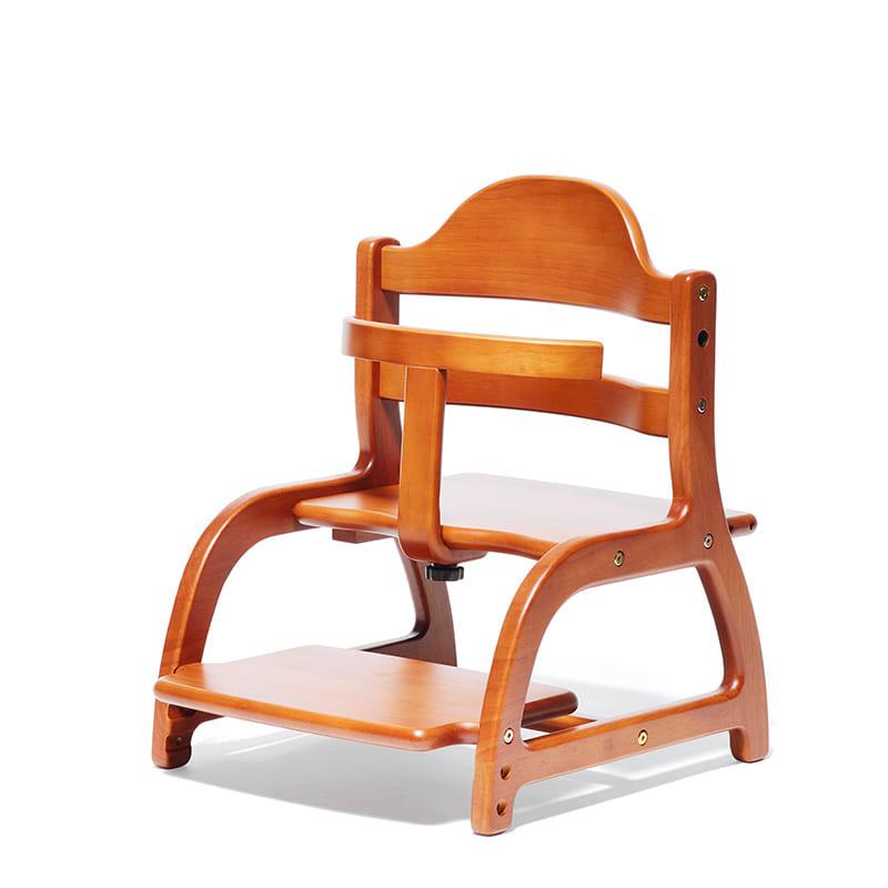 ベビーチェア すくすくローチェア ライトブラウン:床暮らしにぴったりな、ちゃんと座れるローチェア