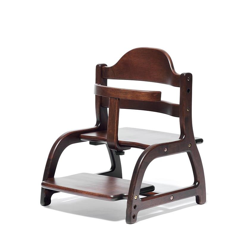 ベビーチェア すくすくローチェア ダークブラウン:床暮らしにぴったりな、ちゃんと座れるローチェア