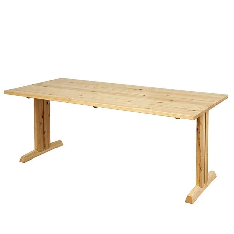 ダイニングテーブル 柚180テーブル LBR:全て国産ヒノキ無垢材を使用したダイニングシリーズです