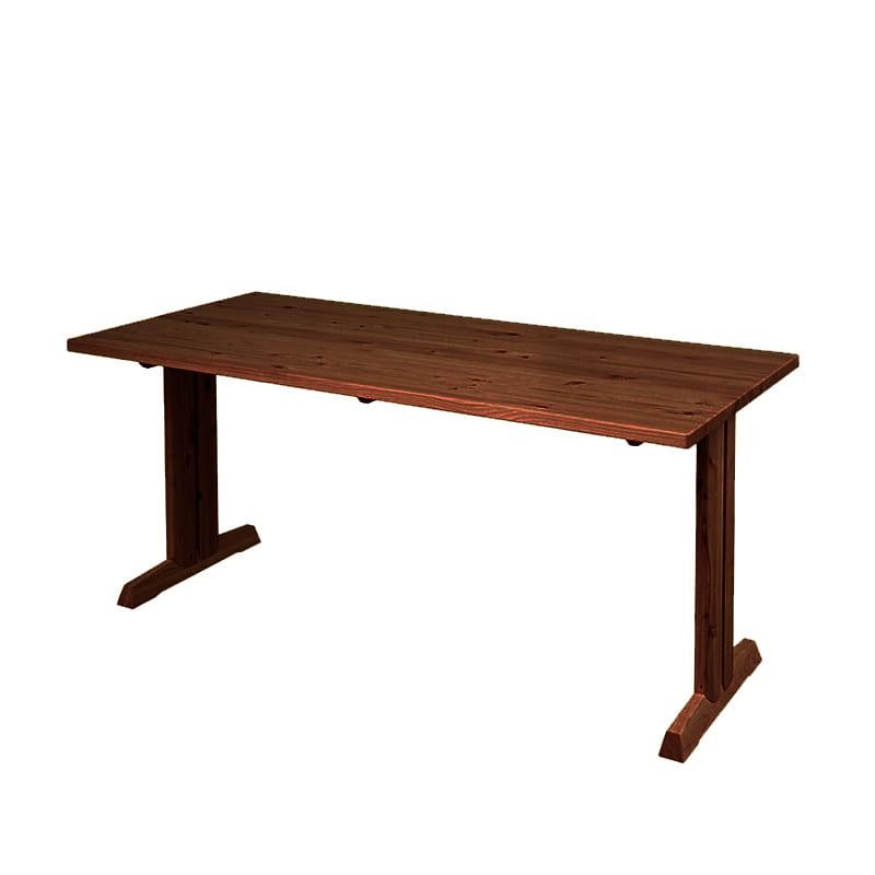 ダイニングテーブル 柚140テーブル MBR:全て国産ヒノキ無垢材を使用したダイニングシリーズです