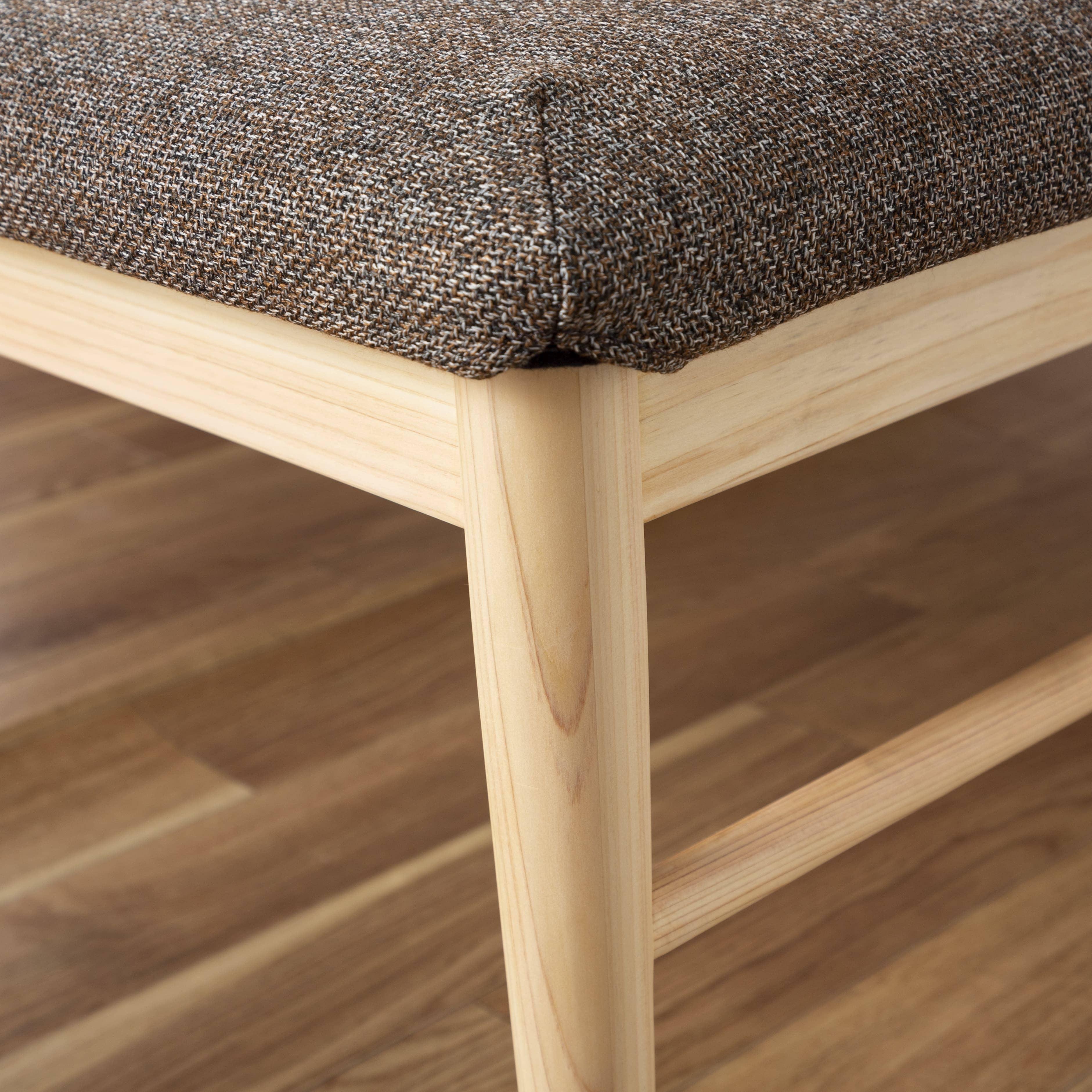 ベンチ 柚110ベンチ MBR/GRE:長く付き合えるベンチに