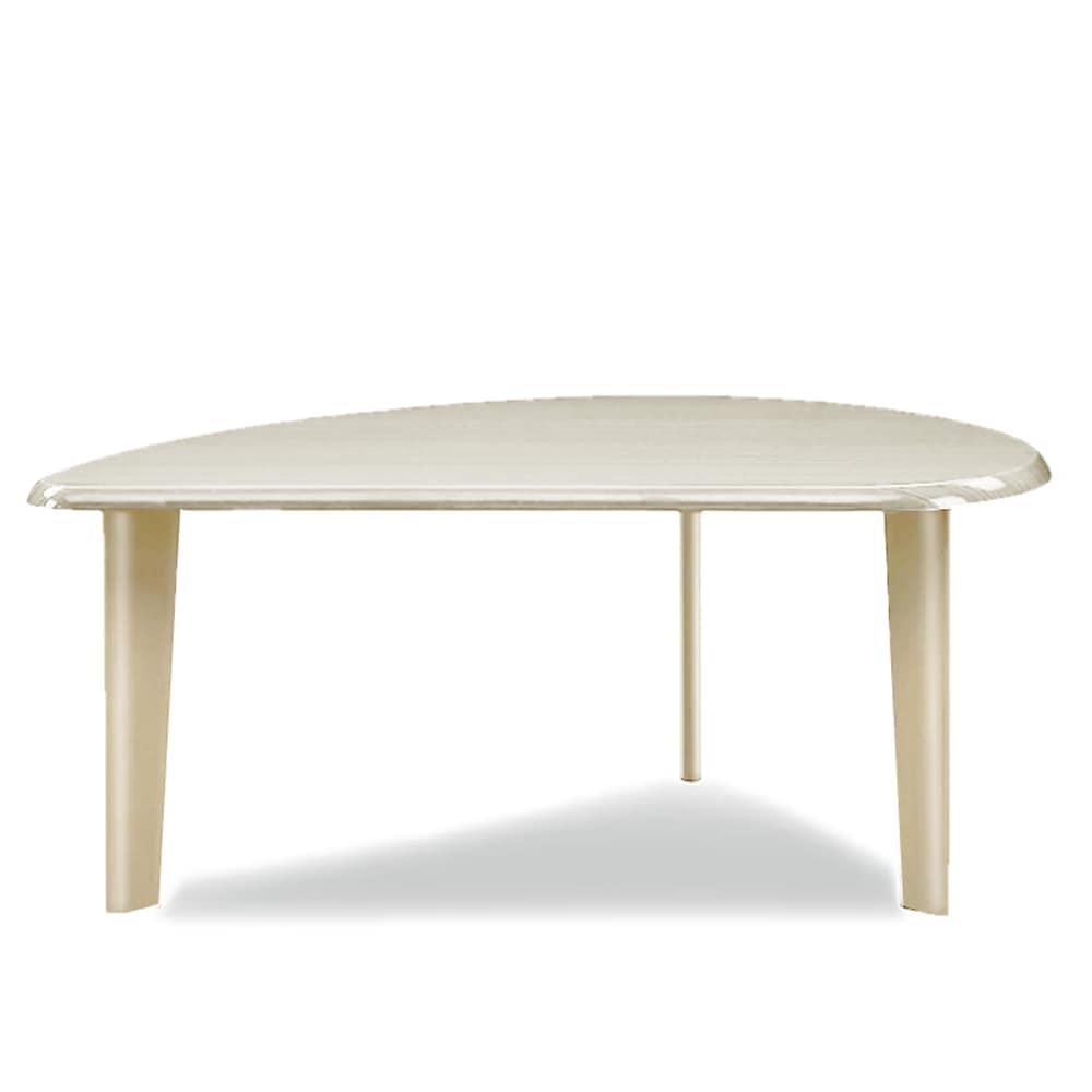 ダイニングテーブル カルバ160テーブル R WH:天板をUV塗装を施しており傷、熱、汚れに強い仕様です
