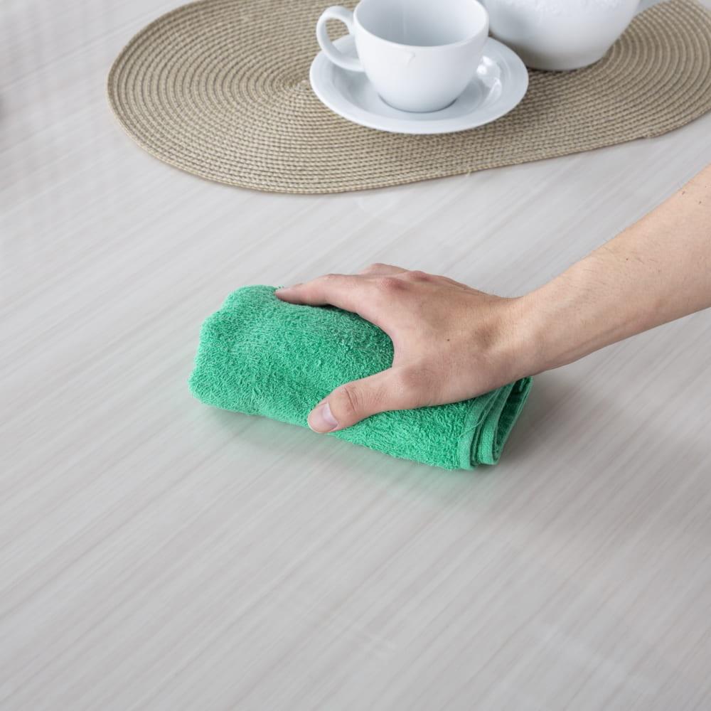 ダイニングテーブル カルバ160テーブル R WH:UV塗装でお手入れ簡単
