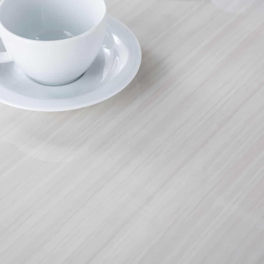 ダイニングテーブル カルバ160テーブル R WH:美しい光沢の鏡面テーブル