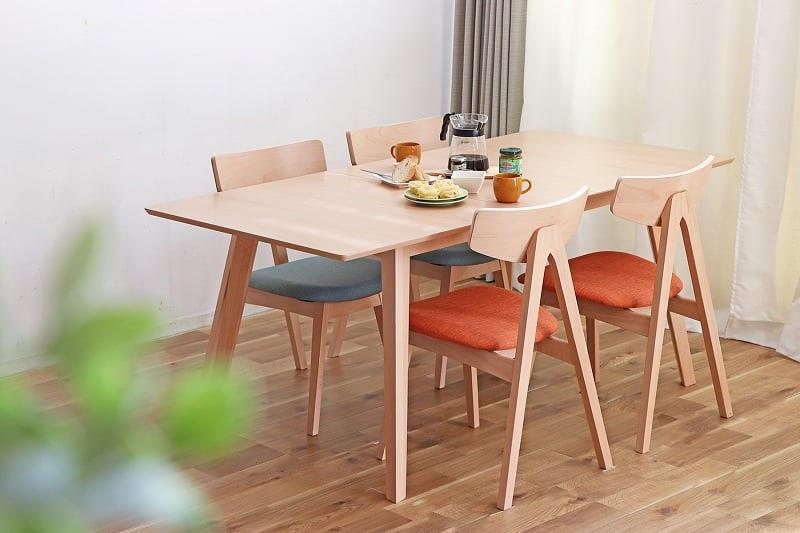 【ネット限定】ダイニングテーブル エスカ140伸長テーブル:ダイニングテーブル エスカ140伸長テーブル
