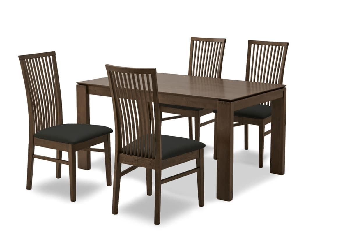 【ネット限定】ダイニング5点セット オスカー:テーブルは板目と柾目を使い分けて質感をだしています。
