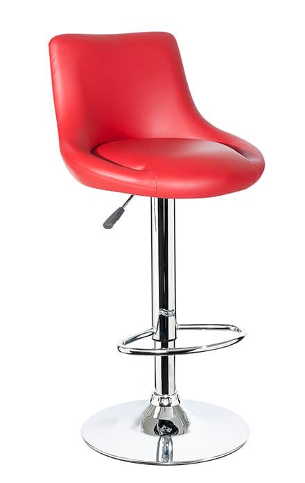 【ネット限定】バーチェア SP−1169 RED:湾曲が座り心地が良いデザインです