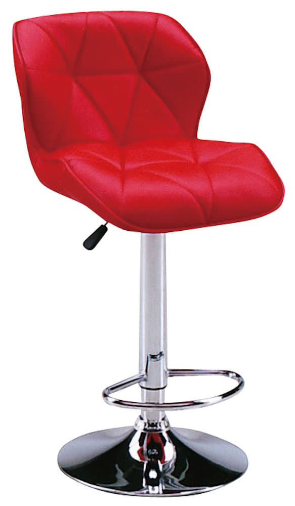 【ネット限定】バーチェア SP−1351−9 RED:座面はお手入れのしやすい合皮貼りです