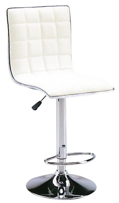 【ネット限定】バーチェアー SP−3031−3 WH:座面はお手入れのしやすい合皮貼りです