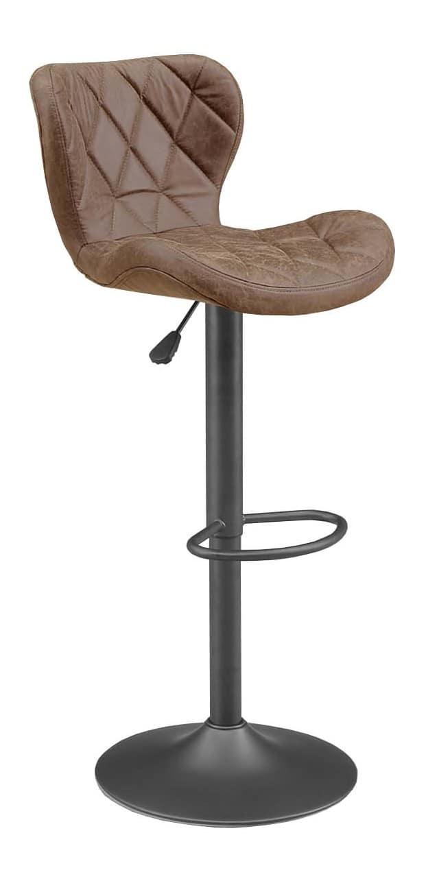 【ネット限定】バーチェアー SP−3071−16P COFFEE:湾曲が座り心地が良いデザインです