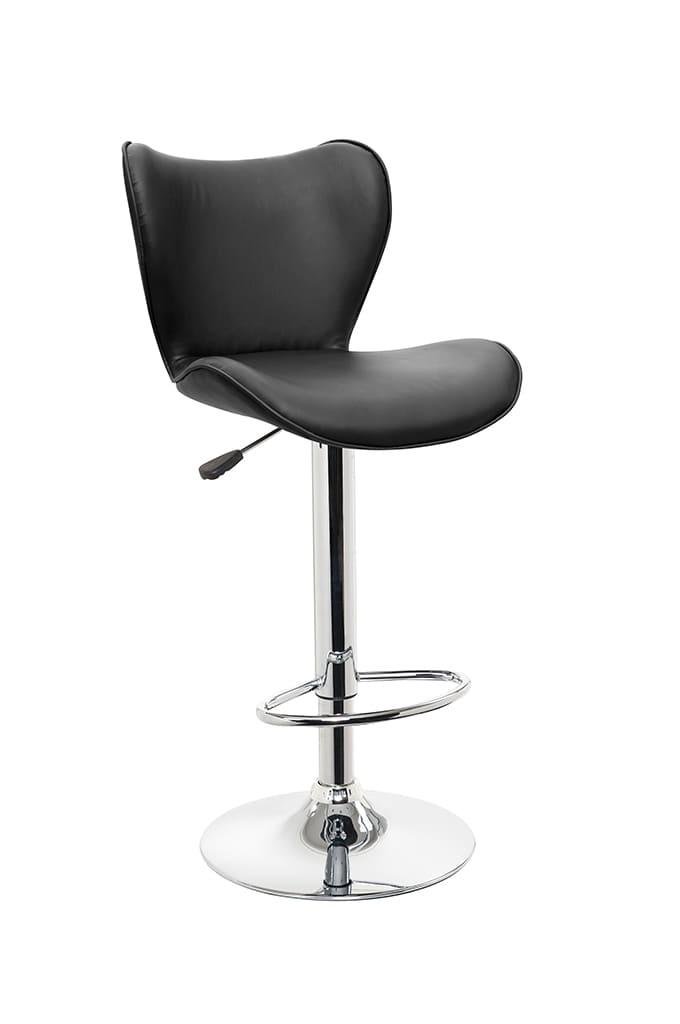 【ネット限定】バーチェアー SP−3079 BK:湾曲が座り心地が良いデザインです