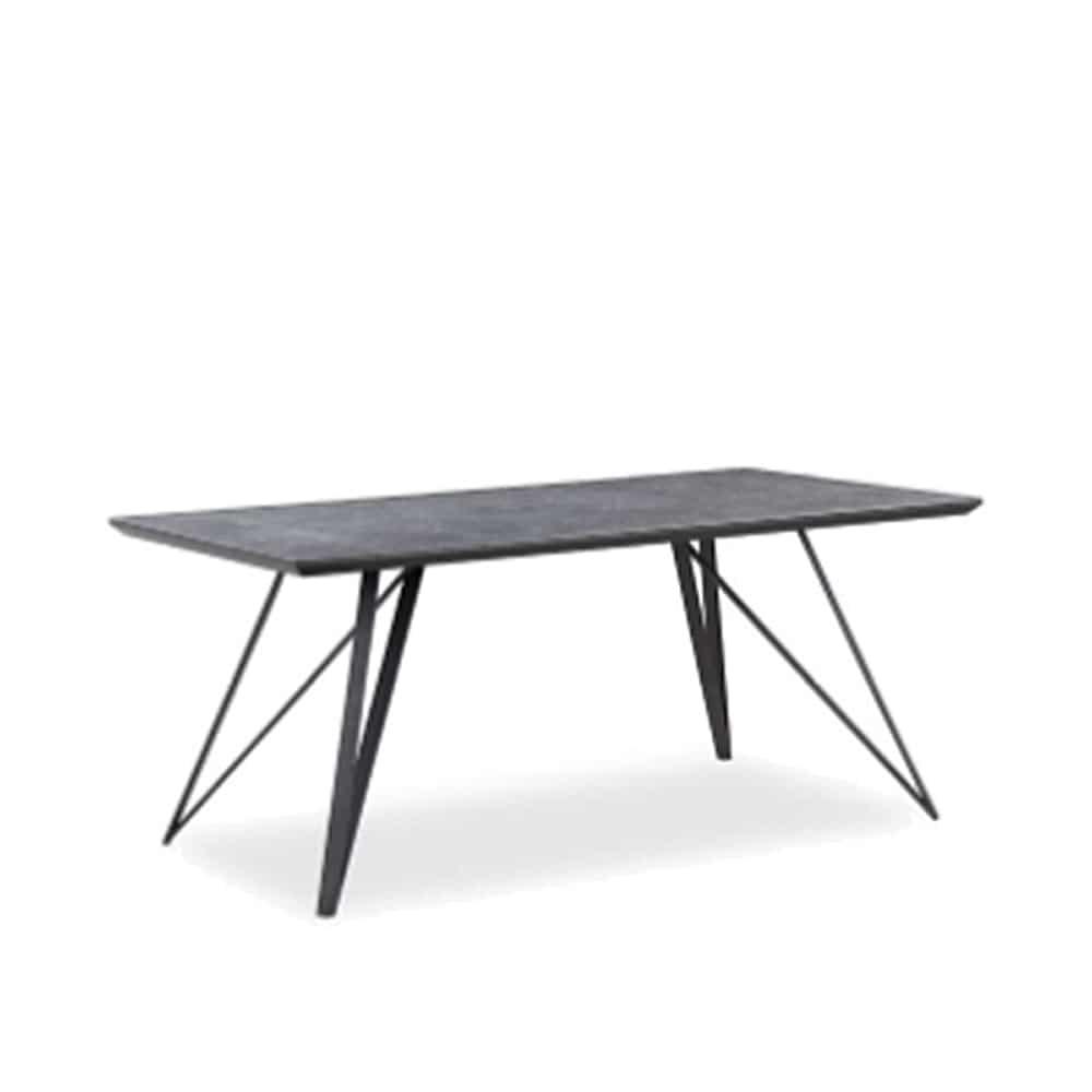 160ダイニングテーブル JP−1669DT−160−BK:粘土や長石等の鉱物を混ぜ合わせ、高温で焼き上げた磁器素材です