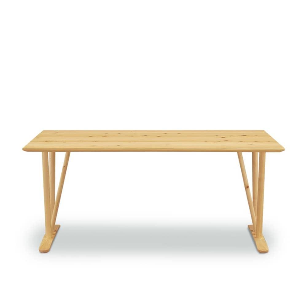 ダイニングテーブル リリー 160テーブル:《ヒノキ無垢材を使用したダイニングテーブル》