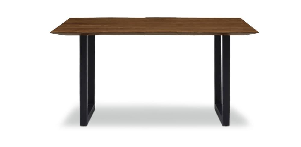 ダイニングテーブル ラテ150テーブル耳付き BK:《シャープソリッド使用で無垢本来の質感や深みを演出》