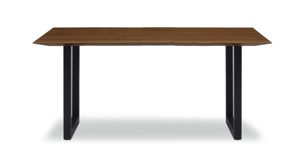 ダイニングテーブル ラテ165テーブル耳付き BK:《シャープソリッド使用で無垢本来の質感や深みを演出》