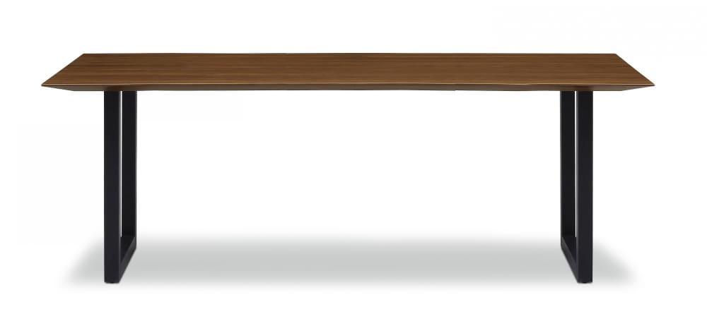 ダイニングテーブル ラテ195テーブル耳付き BK:《シャープソリッド使用で無垢本来の質感や深みを演出》
