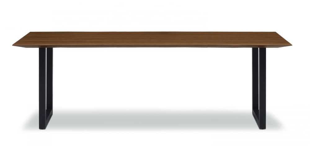 ダイニングテーブル ラテ210テーブル耳付き BK:《シャープソリッド使用で無垢本来の質感や深みを演出》