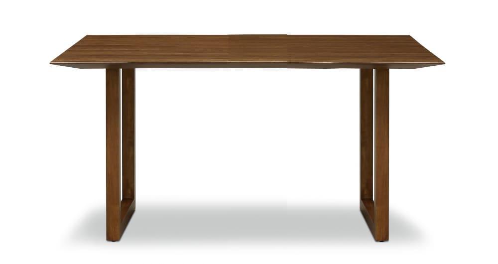ダイニングテーブル ラテ150テーブル耳付き MBR:《シャープソリッド使用で無垢本来の質感や深みを演出》
