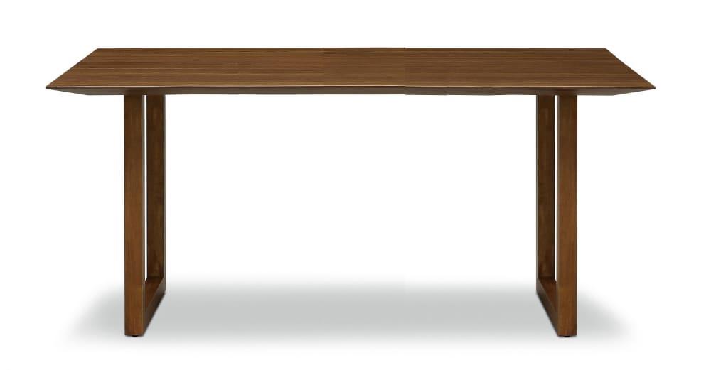ダイニングテーブル ラテ165テーブル耳付き MBR:《シャープソリッド使用で無垢本来の質感や深みを演出》