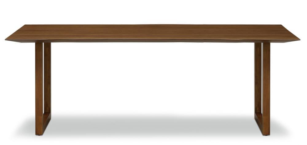 ダイニングテーブル ラテ210テーブル耳付き MBR:《シャープソリッド使用で無垢本来の質感や深みを演出》