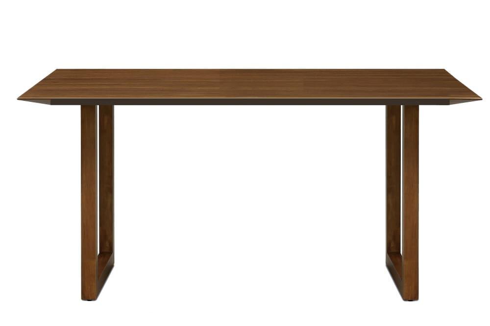 ダイニングテーブル ラテ150テーブル直線 MBR:《シャープソリッド使用で無垢本来の質感や深みを演出》