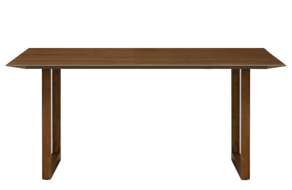 ダイニングテーブル ラテ165テーブル直線 MBR:《シャープソリッド使用で無垢本来の質感や深みを演出》