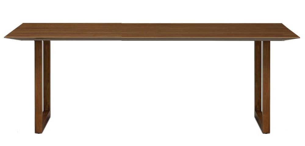 ダイニングテーブル ラテ195テーブル直線 MBR:《シャープソリッド使用で無垢本来の質感や深みを演出》