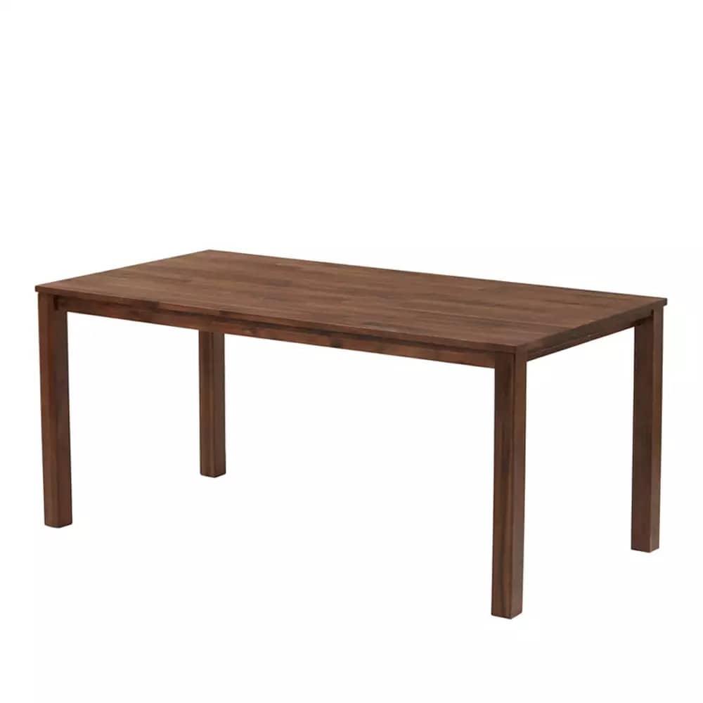 ダイニングテーブル DTルフレ 角脚 160 WN:ダイニングテーブル 角脚