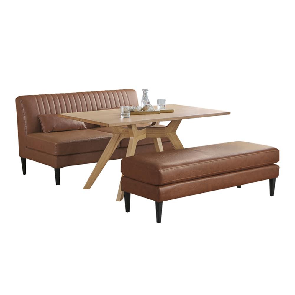 ダイニング3点セット グレス/マルクト:変色・引っかき・引き裂きに強い張地のソファーです。