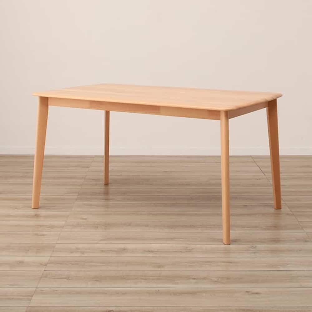 【ニトリ】 ダイニングテーブル Nコレクション T−01 135 NA ナチュラル:天然木ならではの滑らかな造り
