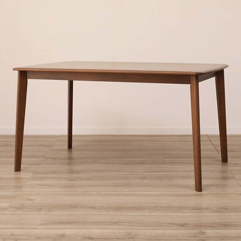 【ニトリ】 ダイニングテーブル Nコレクション T−01 135 MBR ミドルブラウン:天然木ならではの滑らかな造り