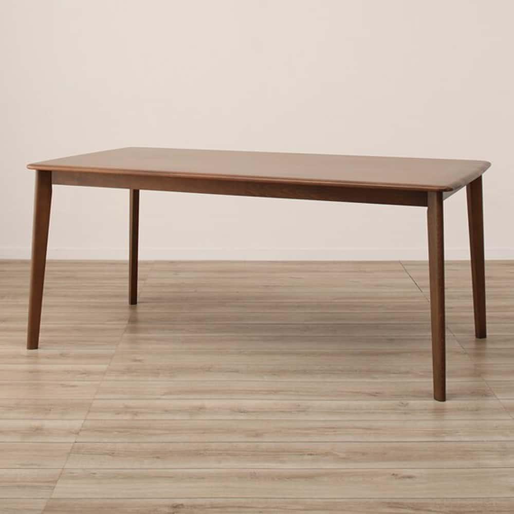 【ニトリ】 ダイニングテーブル Nコレクション T−01 165 MBR ミドルブラウン:天然木ならではの滑らかな造り、肌ざわりが楽しめます。